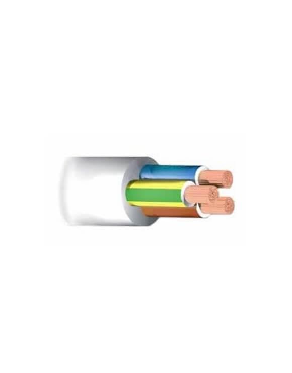 Manguera 3 hilos de 1,5 mm - 1 metro Blanca