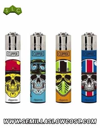 Mechero Clipper Calaveras 9 CP11RH 48 uds.