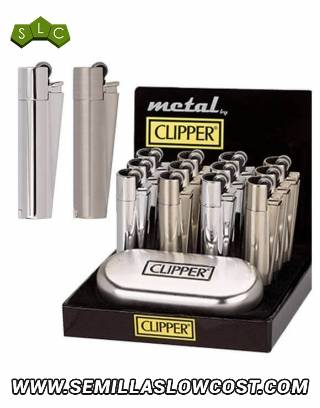 Mechero Clipper Metal Piedra 12 uds