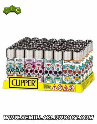 Mechero Clipper Mexican Skulls CP11R 48 uds