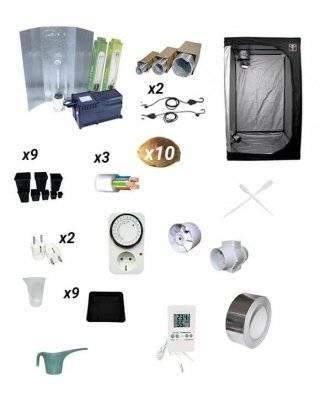 Comprar Kit cultivo 600W  armario 120cm