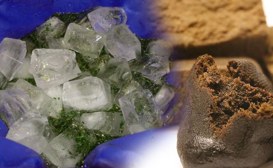Hachís hielo y agua