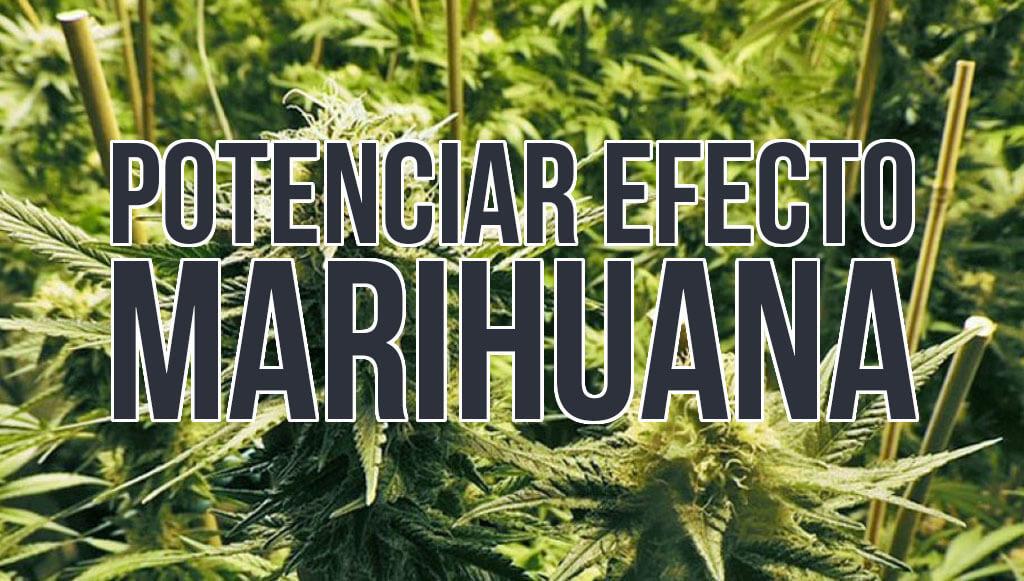 Potenciar efecto marihuana