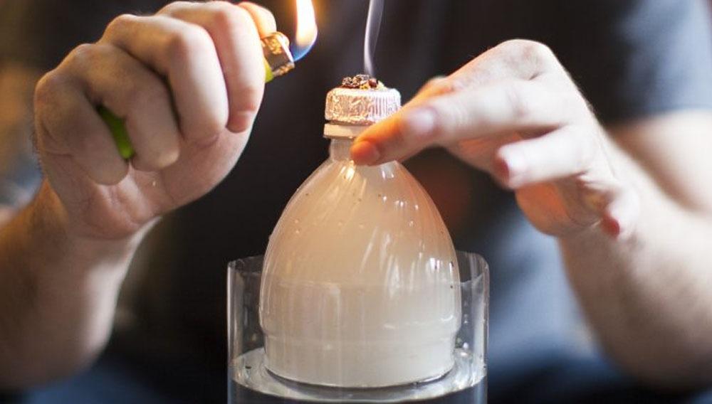 fumar en botella