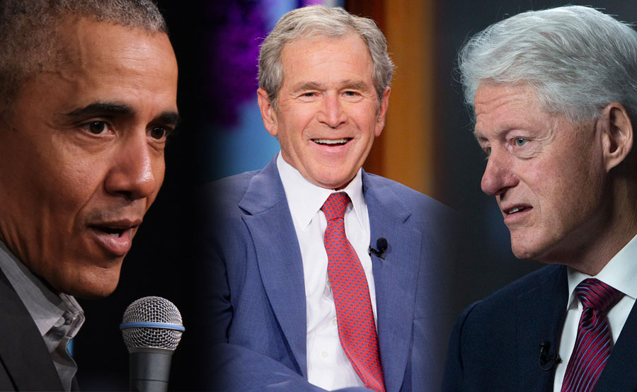Barack Obama, George W. Bush y Bill Clinton