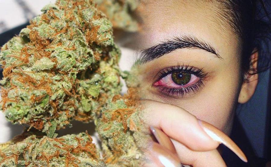 ojos rojos por marihuana