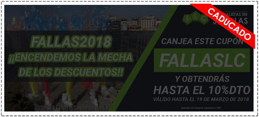 cupón descuento Fallas 2018